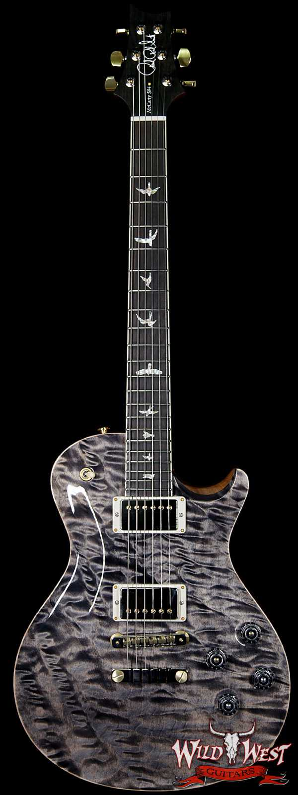 PRS Wood Library Artist Package McCarty Singlecut SC594 One Piece Quilt Top Ebony Fretboard Charcoal