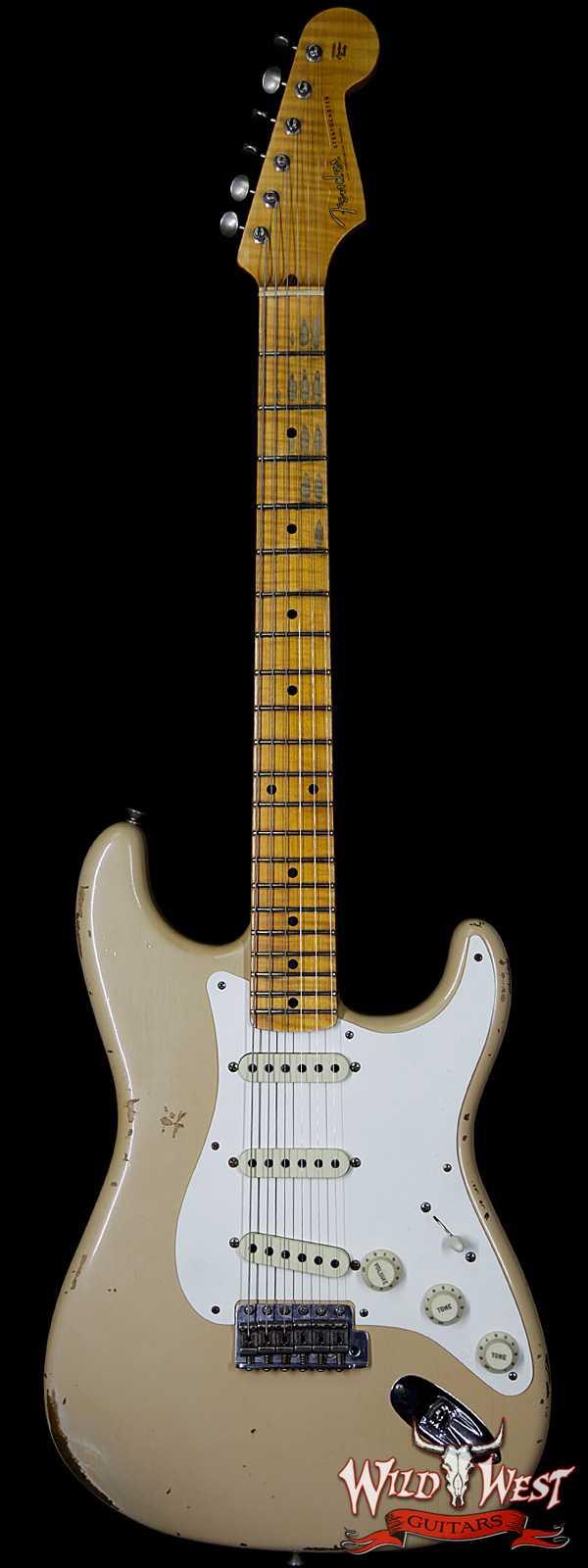 Fender Custom Shop Summer Event LTD Fat 50s Stratocaster Relic Flame Maple Neck Aged Desert Sand