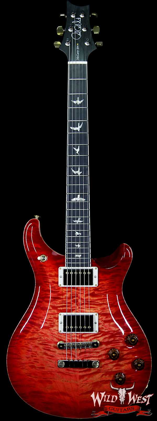 PRS Wood Library Artist Package McCarty 594 Quilt Maple Top Ebony Fretboard Blood Orange