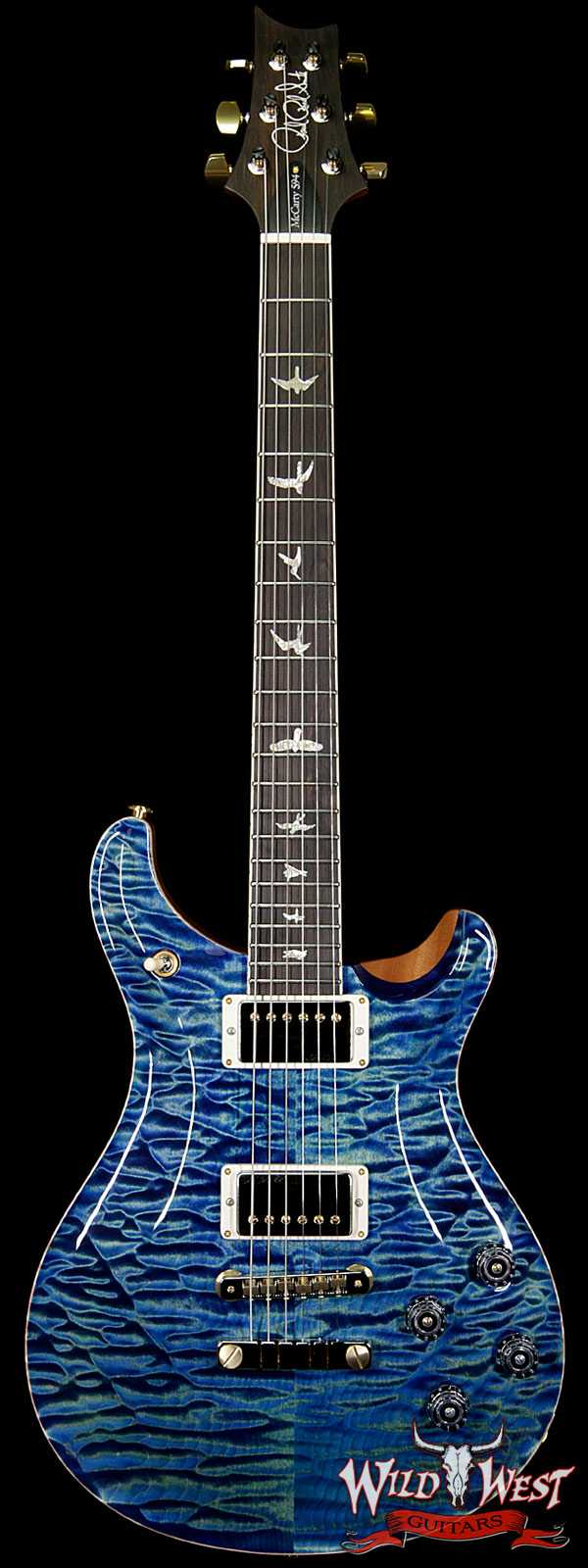 PRS Wood Library Artist Package McCarty 594 Quilt Maple Top Brazilian Rosewood Fretboard River Blue