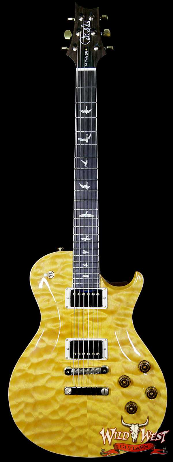 PRS Wood Library Artist Package McCarty Singlecut SC 594 Quilt Top Brazilian Rosewood Fretboard Honey