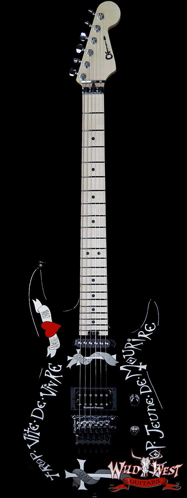 Charvel USA Warren DeMartini Signature Frenchie Maple Fingerboard Gloss Black with Frenchie Graphic