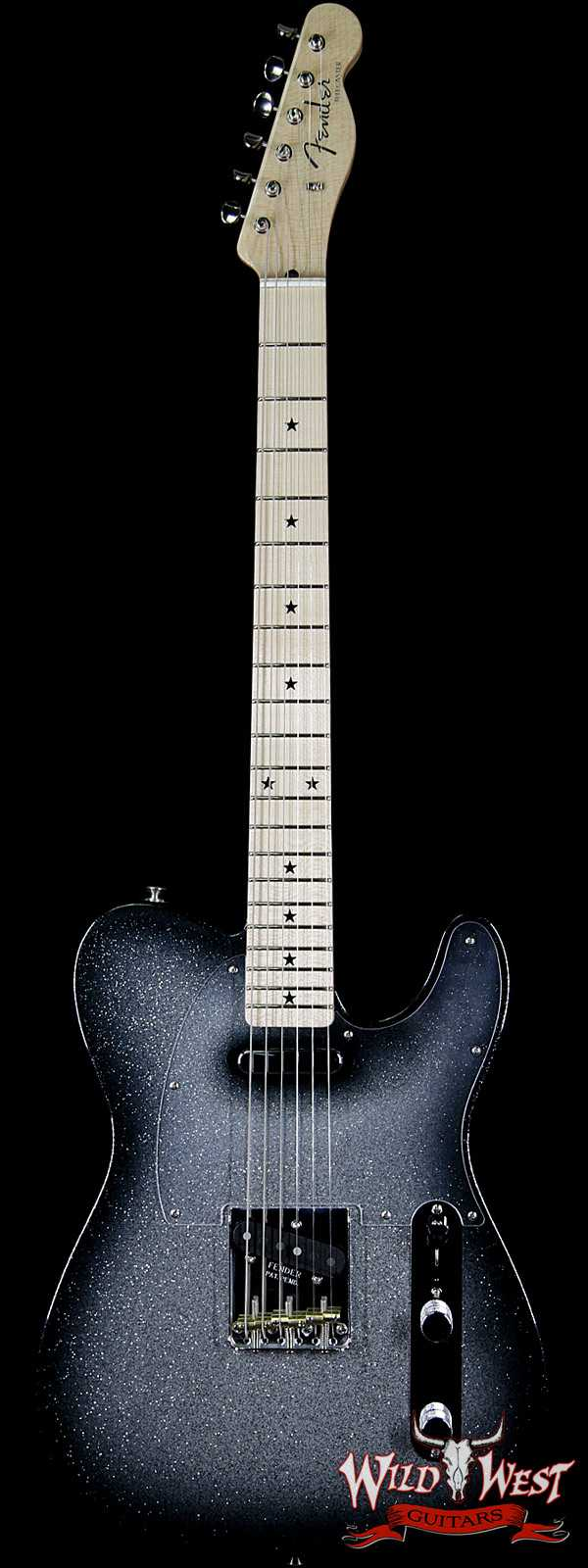 Fender Custom Shop Alan Hamel Founders Design Sparkle Telecaster Black Sparkle Burst