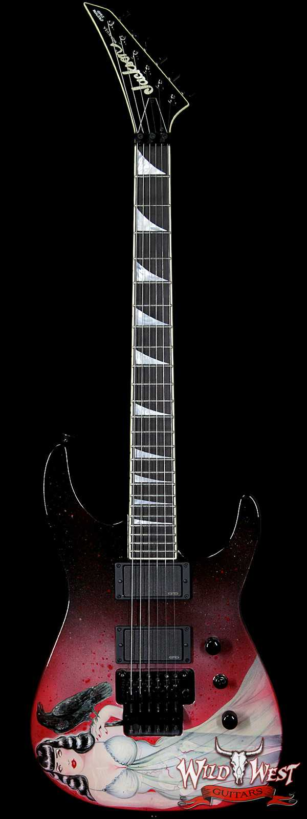 "Jackson Custom Shop ""Haunted"" Soloist SL2H EMG Pickups Artwork by Sara Ray"