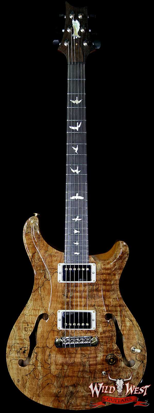 PRS Private Stock PS8056 Hollowbody II Piezo Spalted Maple Top Tulip Neck Brazilian Rosewood Board Mint
