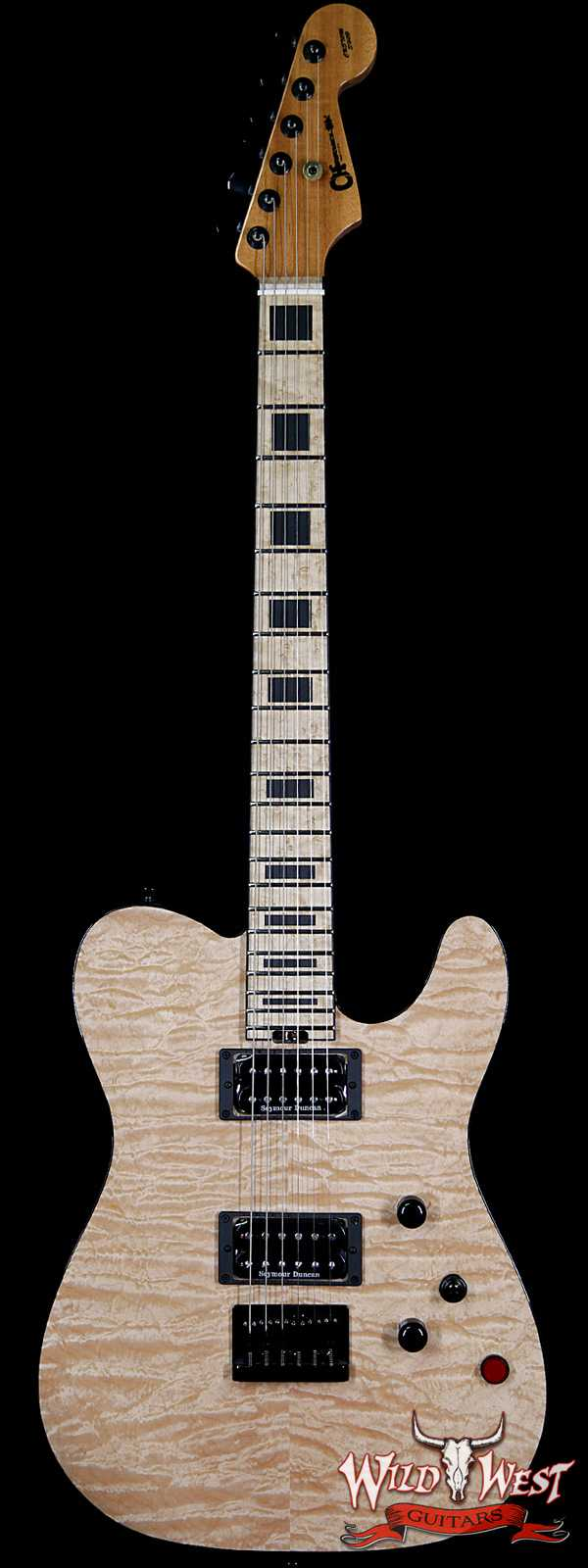 Charvel Custom Shop WW006 Masterbuilt Red Dave Style 2 HH Quilt Maple Top Birdseye Maple Board Natural