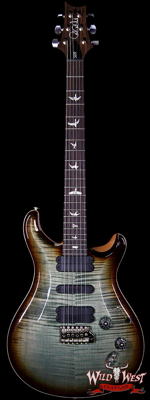 Paul Reed Smith PRS 509 Flame Maple Top Rosewood Board Trampas Green Tobacco Burst Natural Back