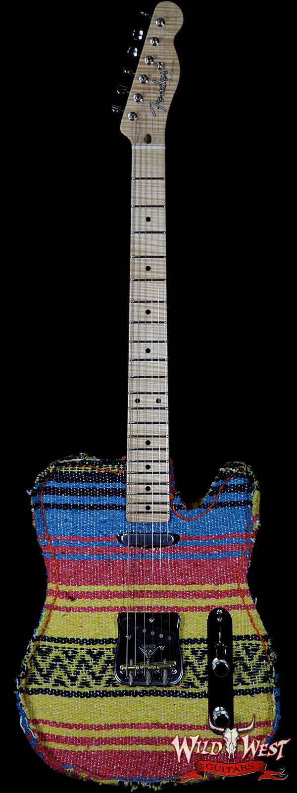 2018 NAMM One-Of-Kind Fender Masterbuilt Dennis Galuszka Border Town Telecaster Mexico Blanket AAAA Flame Neck