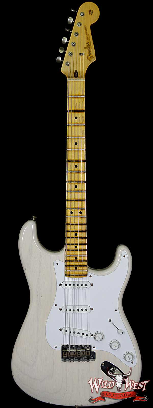 Fender Custom Shop Masterbuilt Todd Krause Clapton Stratocaster Journeyman Relic Aged White Blonde