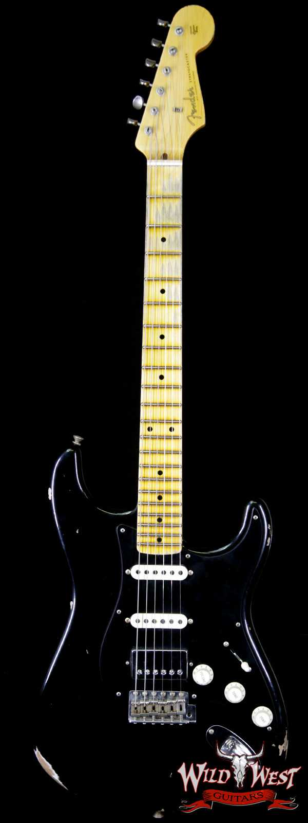 Fender Custom Shop 1958 Stratocaster Relic Maple Neck HSS EVH Pickup Black