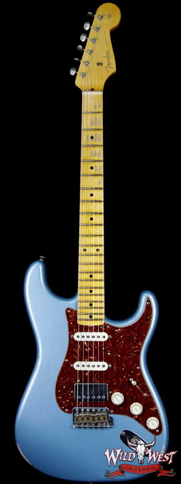 Fender Custom Shop 1958 Stratocaster HSS EVH Pickup Relic Maple Neck Blue Agave