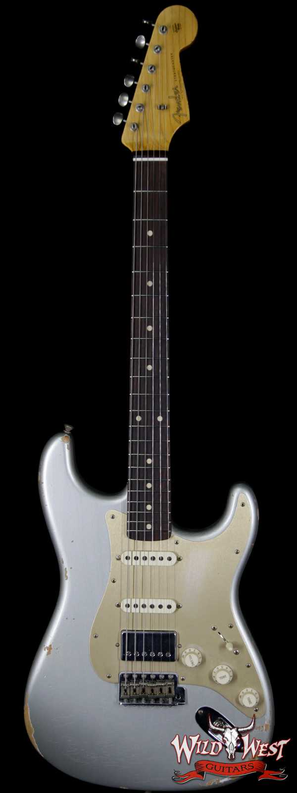 Fender Custom Shop 1962 Stratocaster HSS EVH Pickup Relic Rosewood Fingerboard Inca Silver
