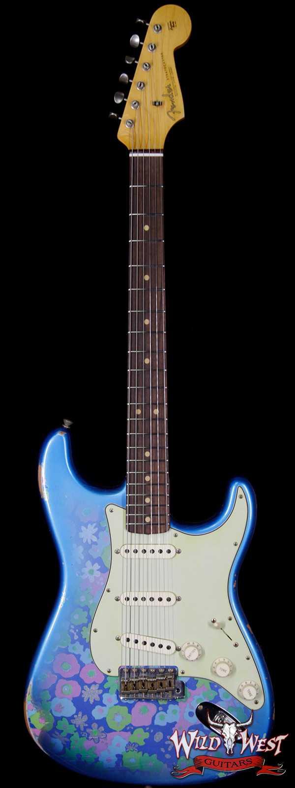 Fender Custom Shop 1963 Stratocaster Relic Rosewood Fingerboard Blue Flower