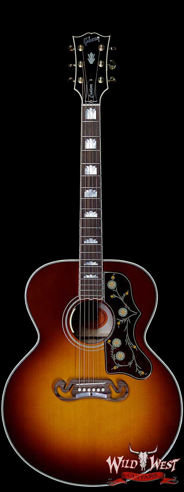 Gibson Custom Shop SJ-200 Flame Maple Side Back & Neck Rosewood Board Wildfire Burst