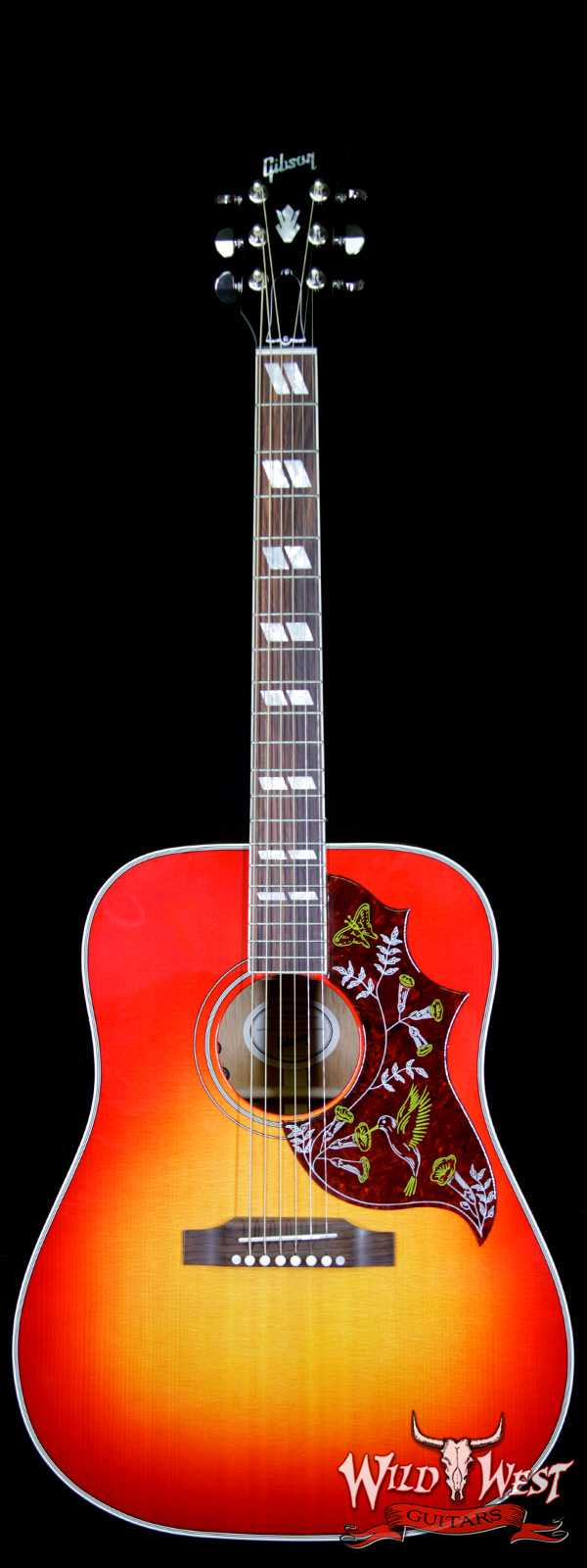 Gibson Montana Hummingbird 2018 Sitka Spruce Top Mahogany Back & Side Rosewood Board Heritage Burst