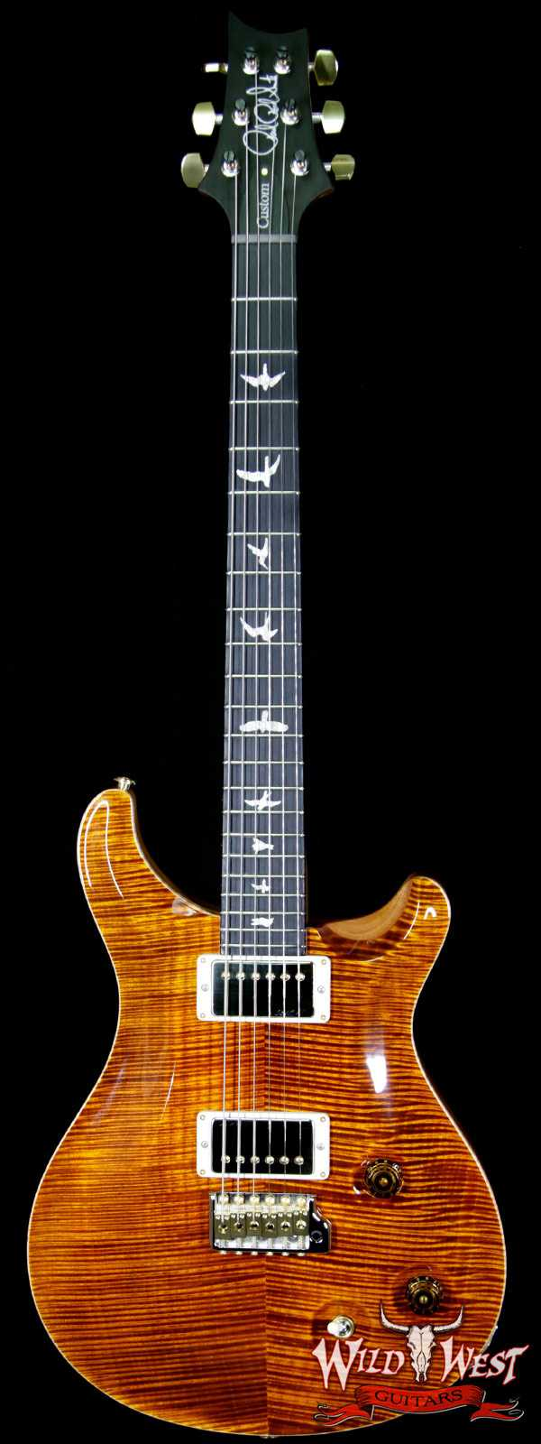 2018 PRS Wood Library Artist Package Custom 22 Flame Maple Top Ebony Fretboard Yellow Tiger