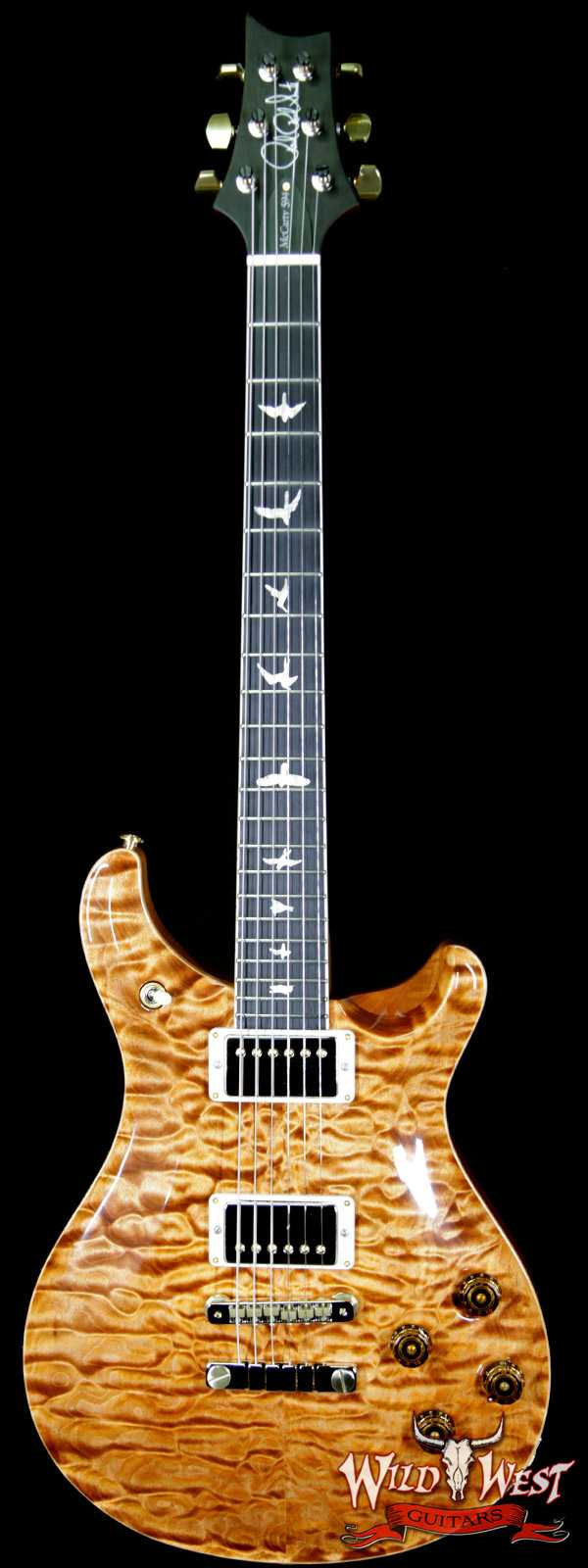 2018 Paul Redd Smith PRS Wood Library Artist Package McCarty 594 Quilt Maple Top Ebony Board Copperhead
