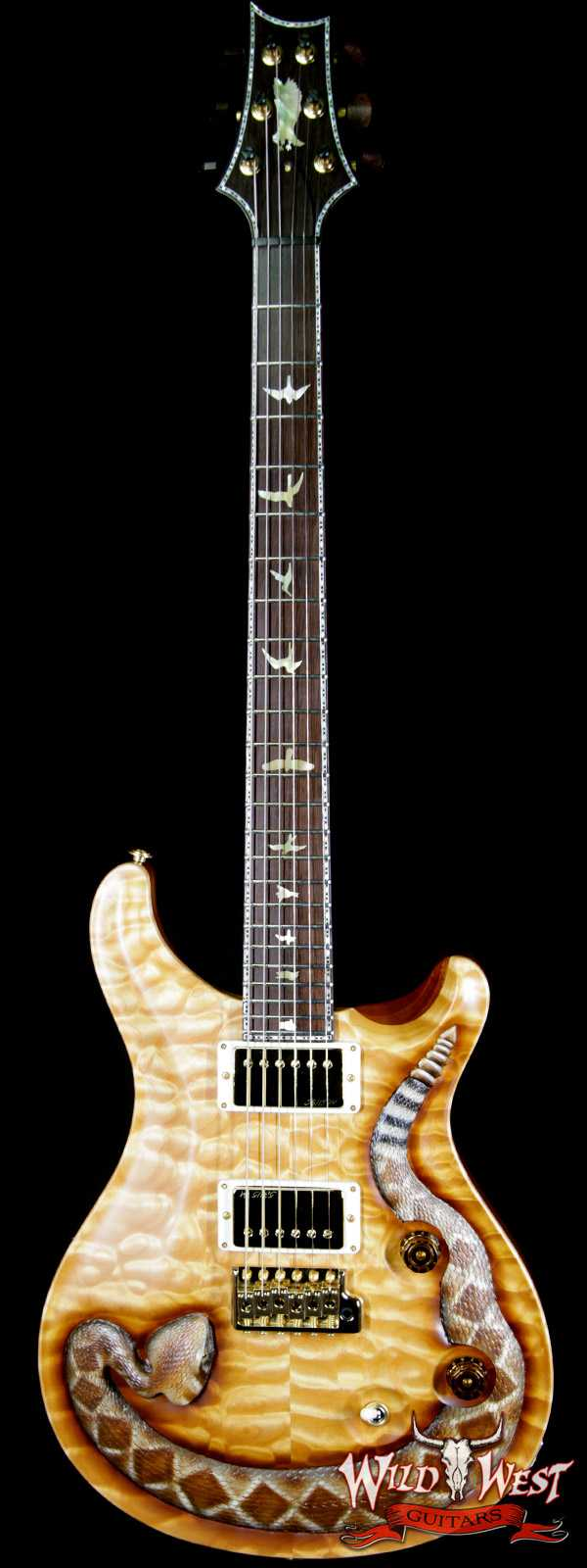 PRS Private Stock Wild West Exclusive Custom 24 Snake LTD # 3 of 6 Hand Carved Quilt Maple Top