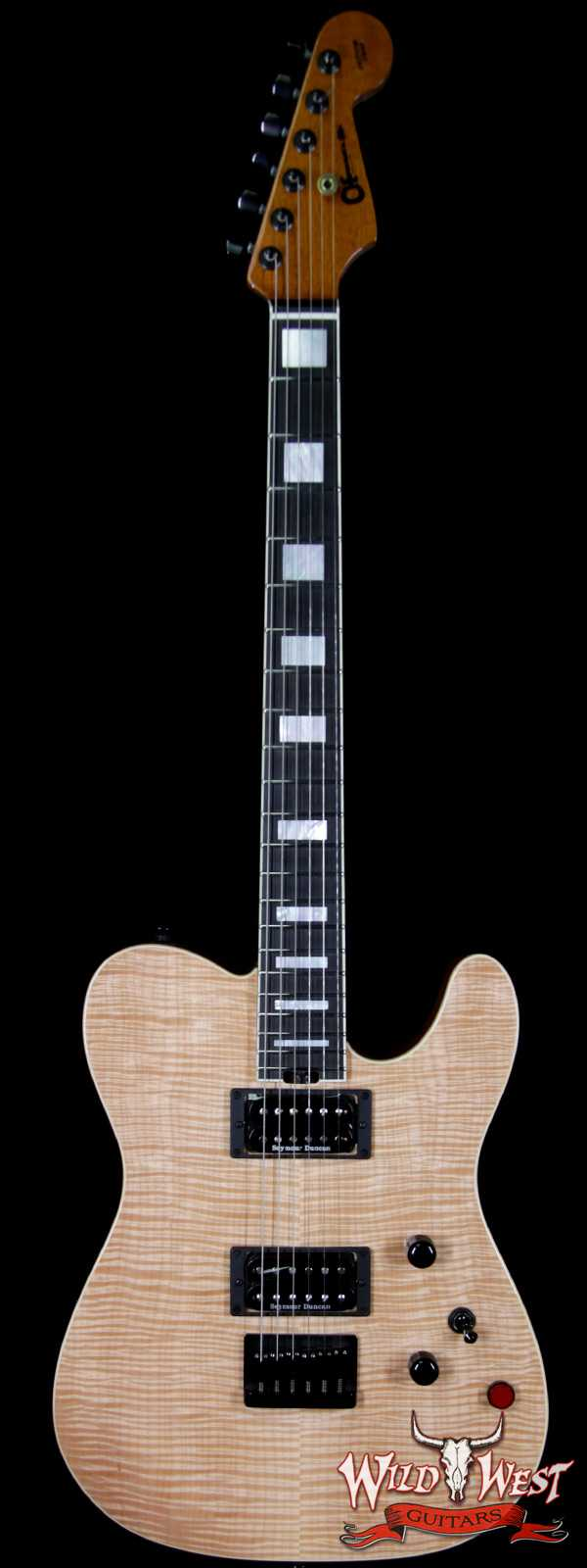 Charvel Custom Shop WW002 Masterbuilt Red Dave Style 2 HH Flamed Maple Top Ebony Board Natural