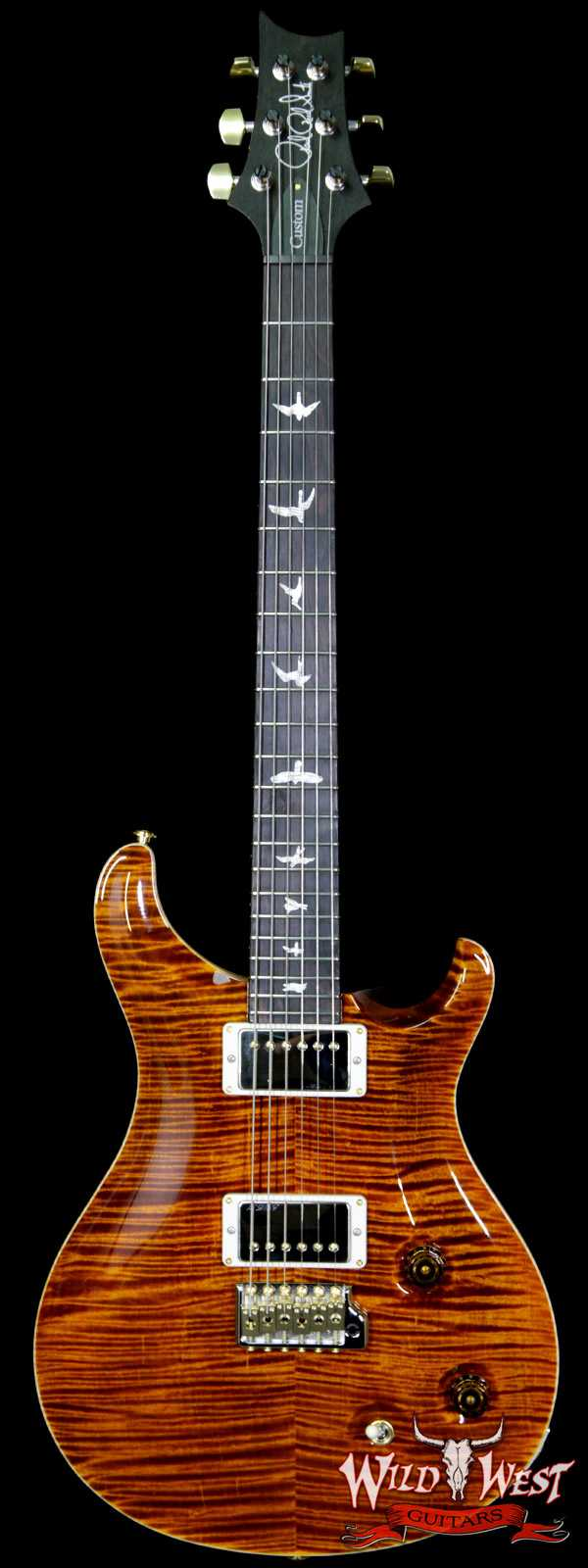 Paul Reed Smith PRS Wood Library Artist Package Custom 22 Flame Maple Top Brazilian Rosewood Board Yellow Tiger