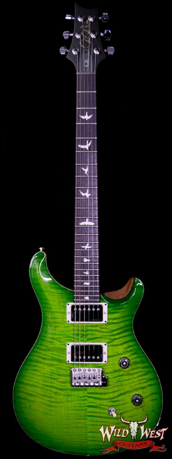 Paul Reed Smith PRS Wild West Guitars Special Run CE 24 Flame Top 57/08 Pickups Eriza Verde 252596