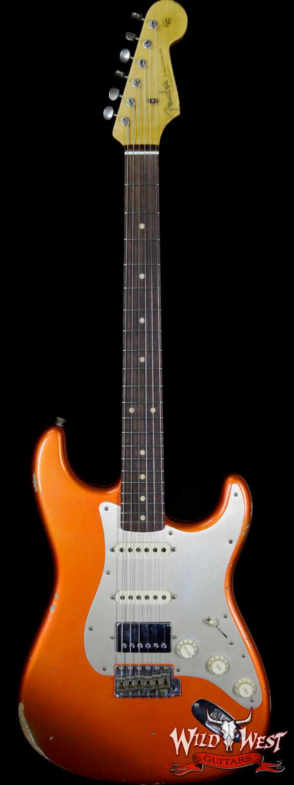 Fender Custom Shop 1962 Stratocaster Relic HSS EVH Bridge Pickup Rosewood Fingerboard Orange