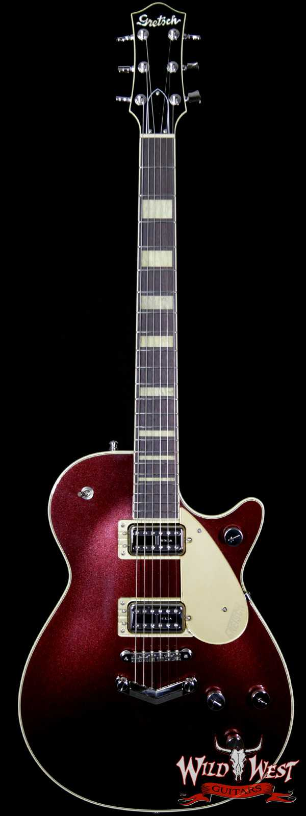 Gretsch G6228 Player Edition Jet Broad'Tro BT65 Pickups V-Stopstail Rosewood Board Dark Cherry Metallic