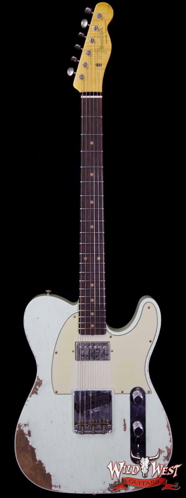 Fender Custom Shop Super Faded Aged  60s Telecaster Custom HS Flame Neck Heavy Relic Surf Green