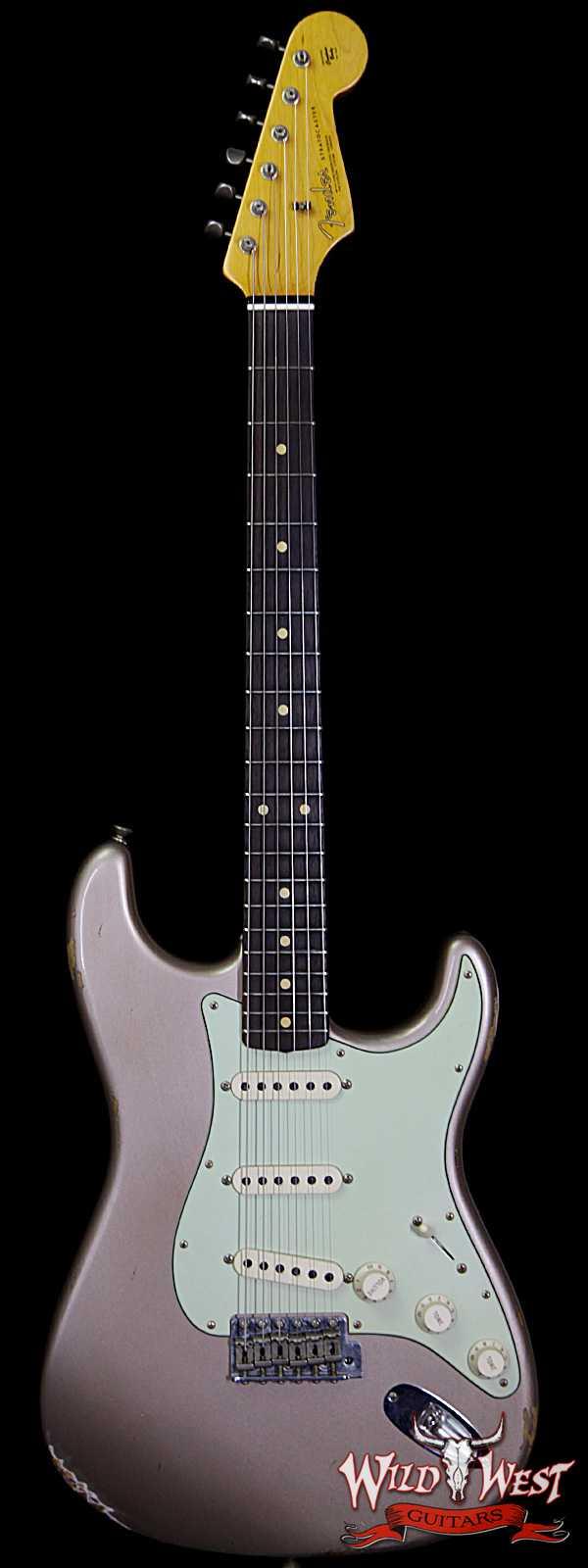 Fender Custom Shop 1963 Stratocaster Relic Rosewood Fingerboard Shoreline Gold