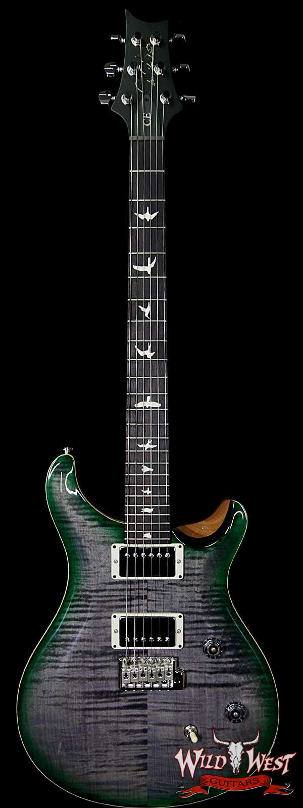 PRS WWG Special Run CE 24 Flame Maple Top 57/08 Pickups Faded Gray Black Green Burst 253202