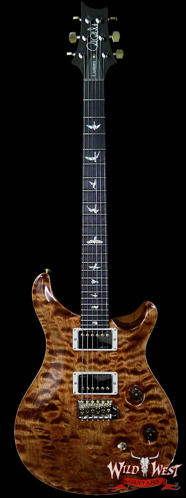 PRS Wood Library 10 Top Custom 24 Fatback Quilt Top Birdseye Neck Ebony Board Copperhead
