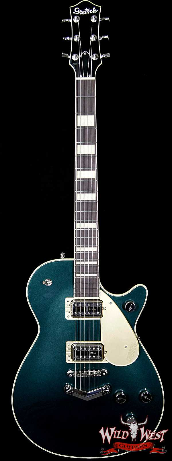 Gretsch G6228 Player Edition Jet Broad'Tro BT65 Pickups V-Stopstail Rosewood Board Cadillac Green