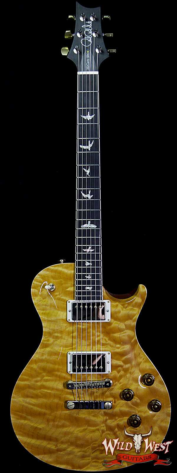 PRS Wood Library Artist Package McCarty Singlecut SC594 1 Piece Quilt Top Ebony Board Honey