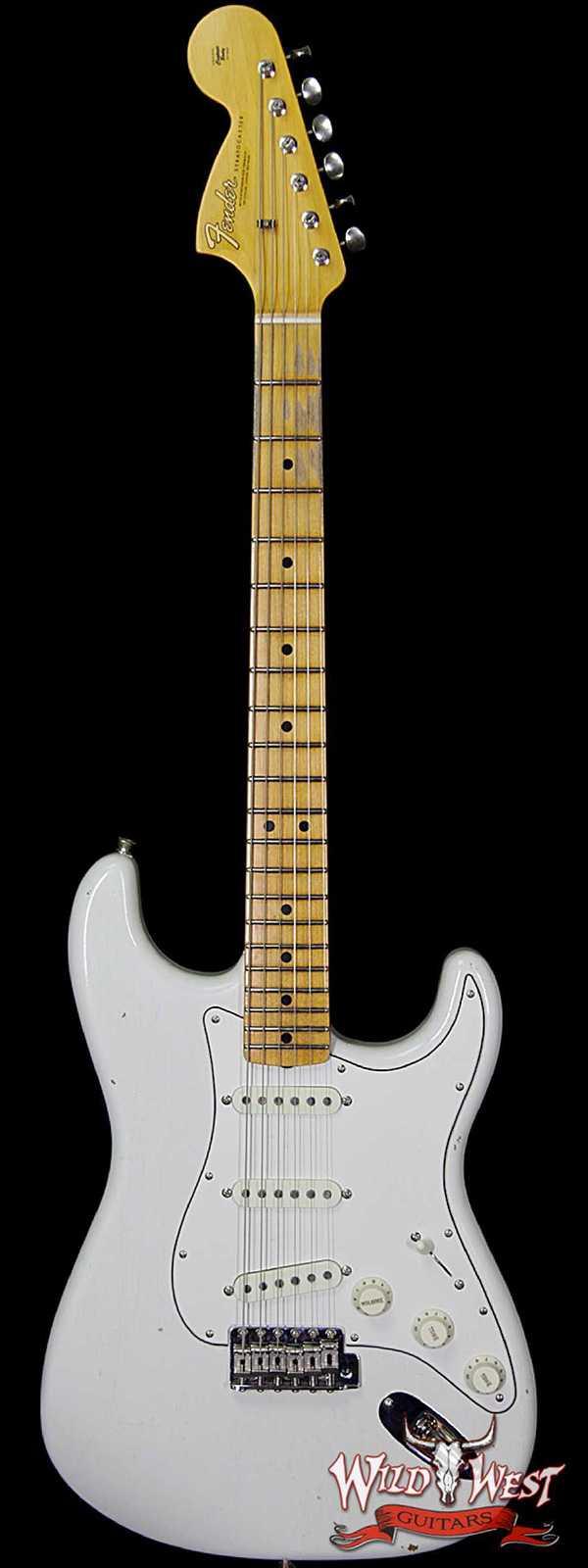 Fender Custom Shop Jimi Hendrix Voodoo Child Signature Stratocaster Journeyman Relic Olympic White VC0480