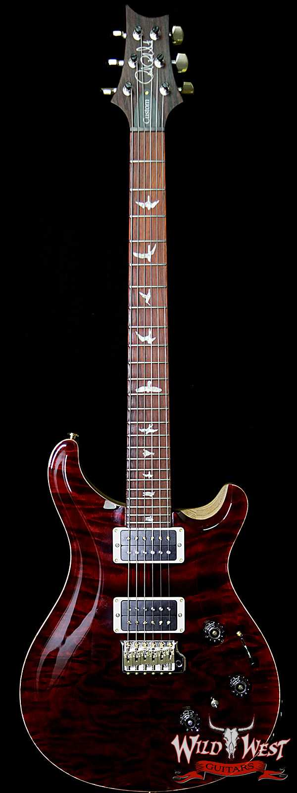 PRS Wood Library 10 Top Custom 24 Piezo P24 Quilt Top Flame Neck Cocobolo Fretboard Red Tiger