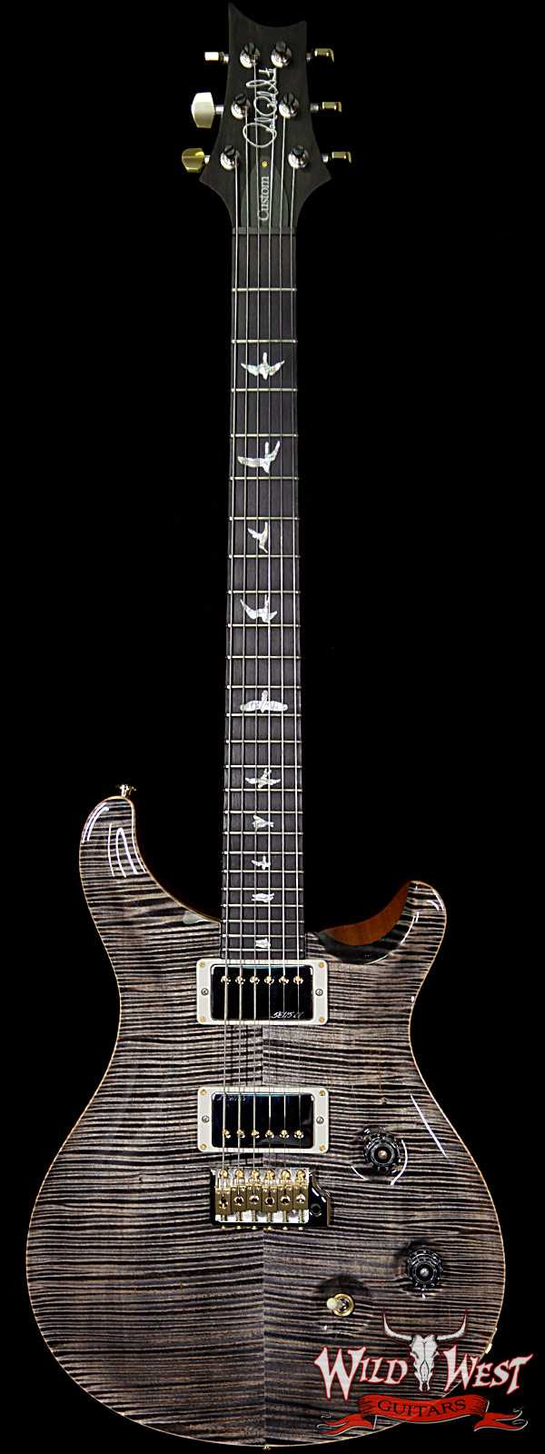 PRS Wood Library Artist Package Custom 24 Fatback Flame Top Neck African Blackwood Board Charcoal