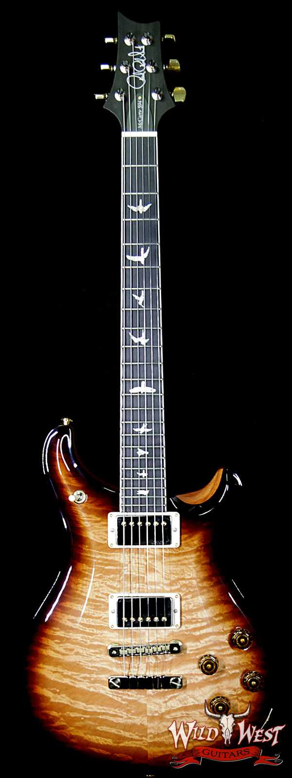 PRS Wood Library Artist Package McCarty 594 Quilt Maple Top Ebony Board Natural Smoke Burst
