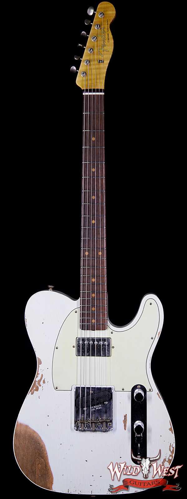 Fender Custom Shop Super Faded Aged 60's Telecaster Custom HS Flame Neck Heavy Relic Sonic Blue