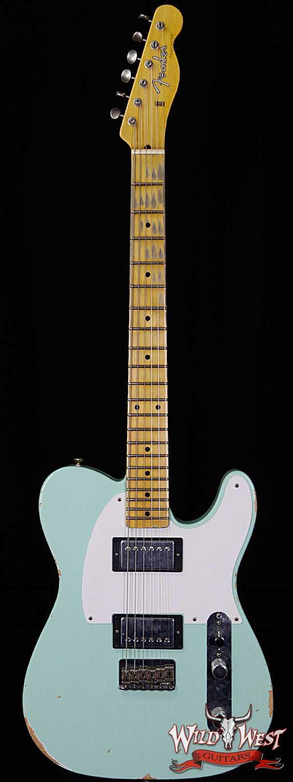 Fender Custom Shop 1958 Telecaster Custom Relic HH EVH Pickups Surf Green