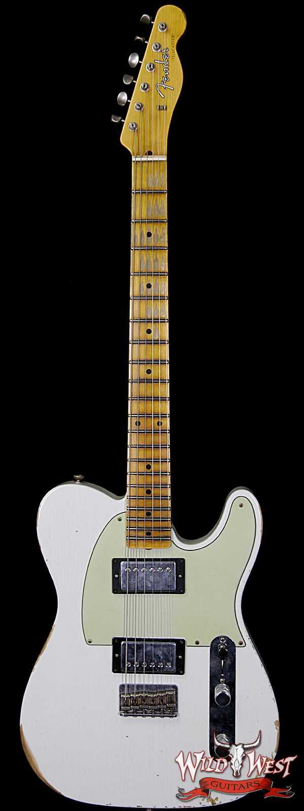 Fender Custom Shop 1958 Telecaster Custom Relic HH EVH Pickups Olympic White