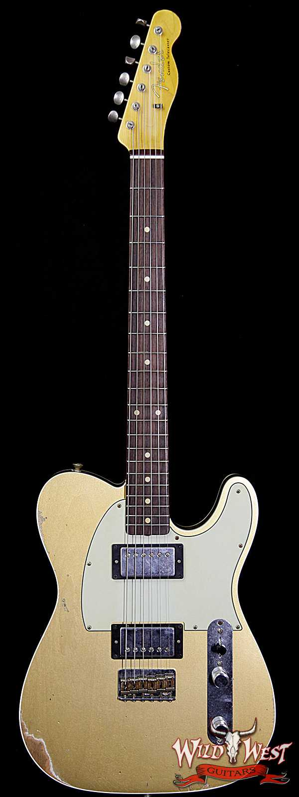 Fender Custom Shop 1962 Telecaster Custom Relic HH EVH Pickups Aztec Gold