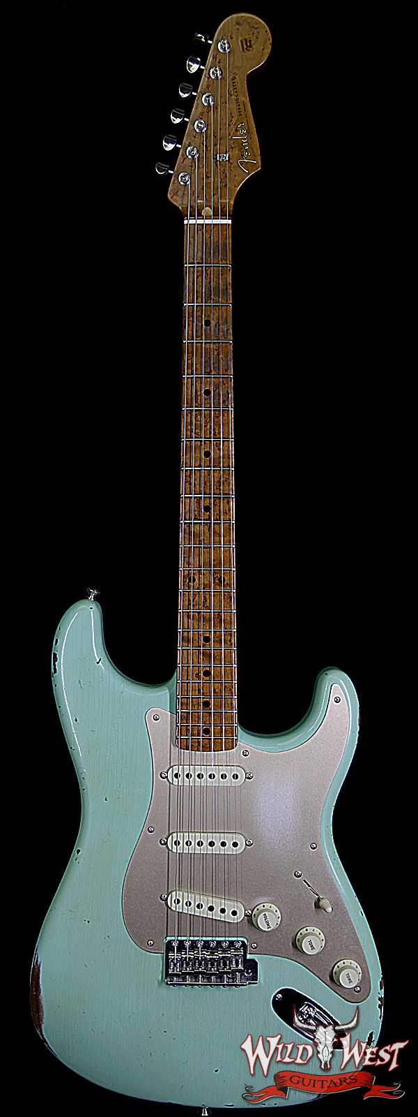 Fender Custom Shop 1956 Stratocaster Relic Roasted Birdeye Maple Neck Surf Green