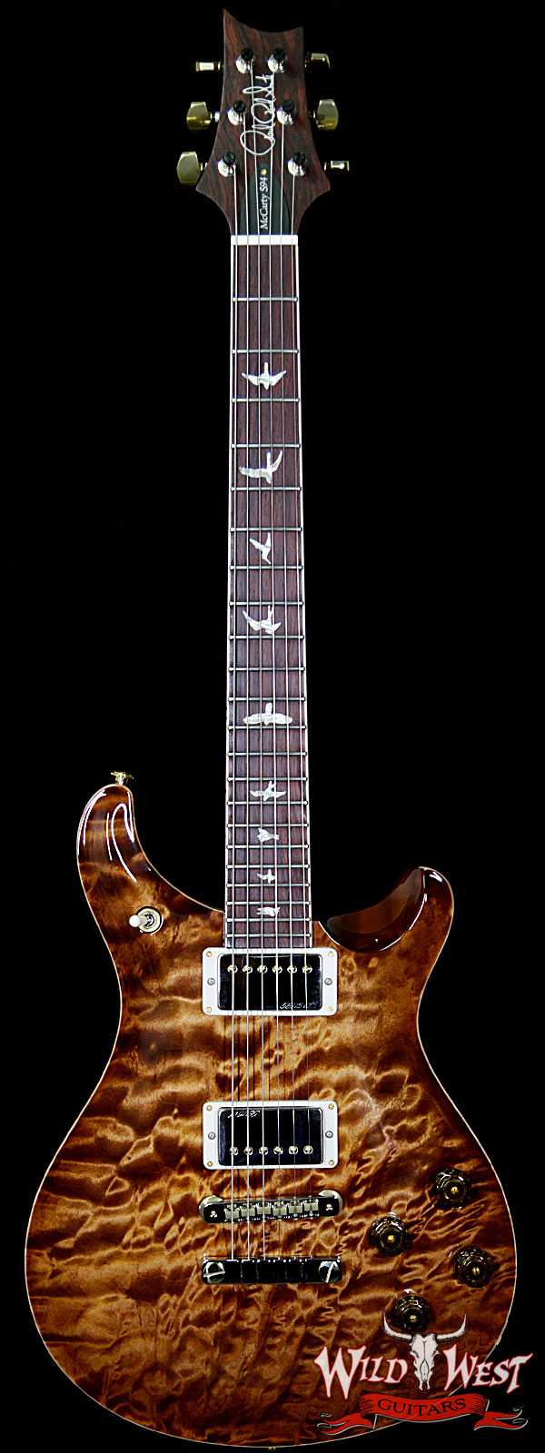PRS Wood Library 10 Top 1-Piece Quilt Top McCarty 594 Flame Maple Neck Cocobolo Board Copperhead