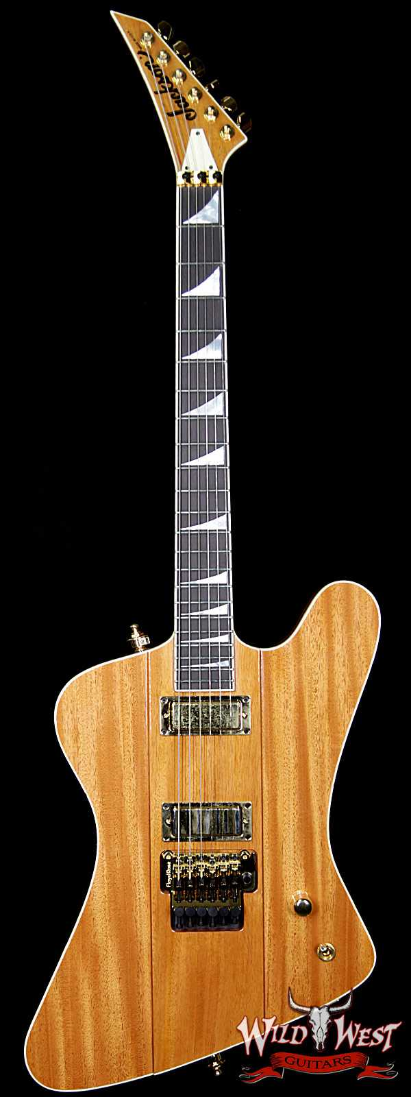 Summer Event #701 Jackson Custom Shop Masterbuilt Mike Shannon F-Bird Double Humbucker Natural Mahogany