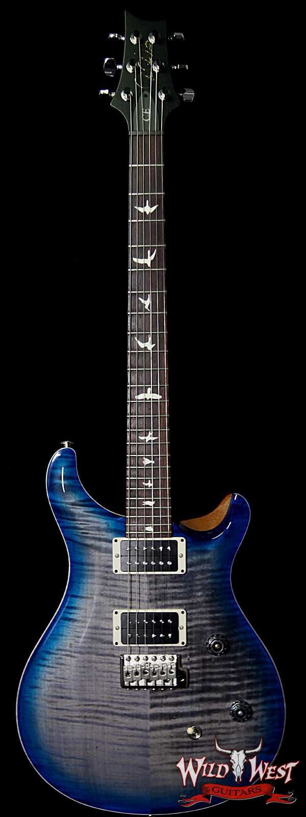 PRS WWG Special Run CE 24 Flame Maple Top 85/15 Pickups Faded Gray Black Blue Burst 251441