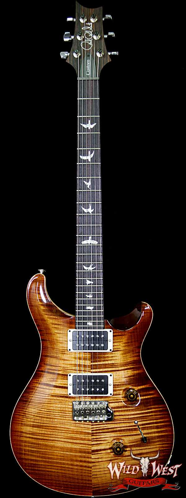 PRS 2018 Experience 10 Top Custom 24 Flame Top East Indian Rosewood Board Copperhead Burst