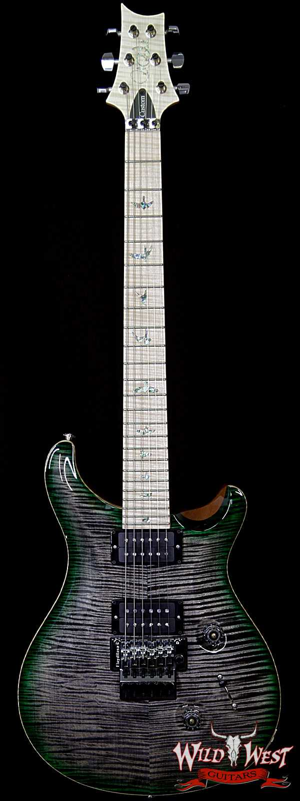 PRS Wood Library Artist Package Custom 24 Floyd Rose Flame Maple Top Neck & Board Charcoal Jade Burst