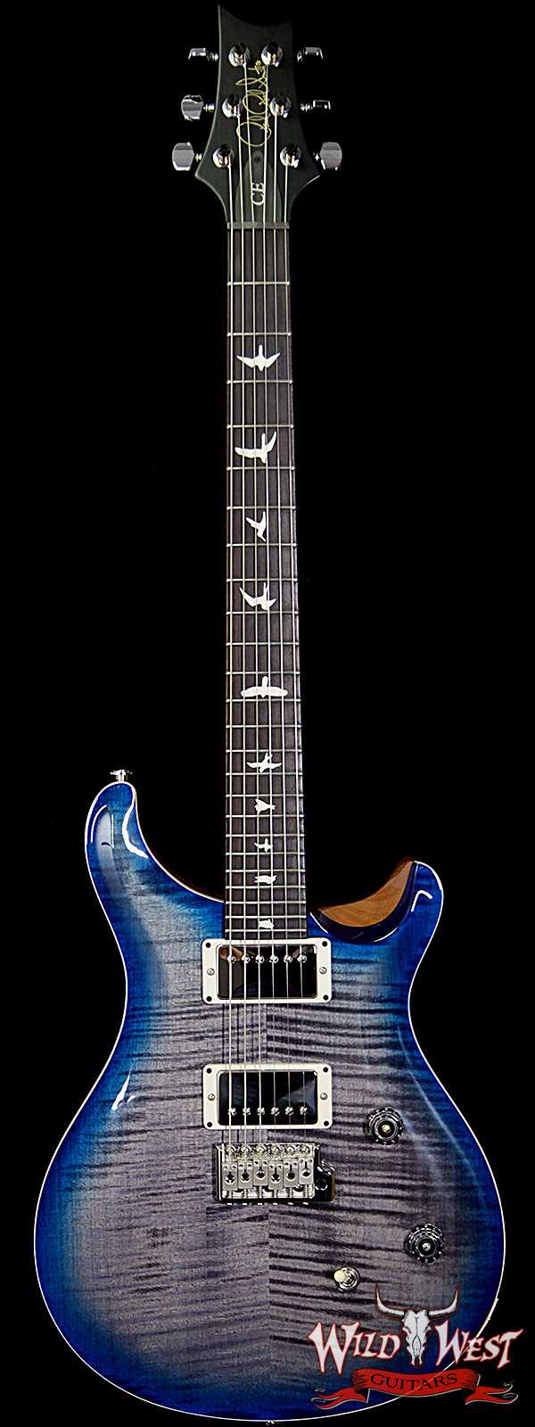 PRS WWG Special Run CE 24 Flame Maple Top 57/08 Pickups Faded Gray Black Blue Burst 251430