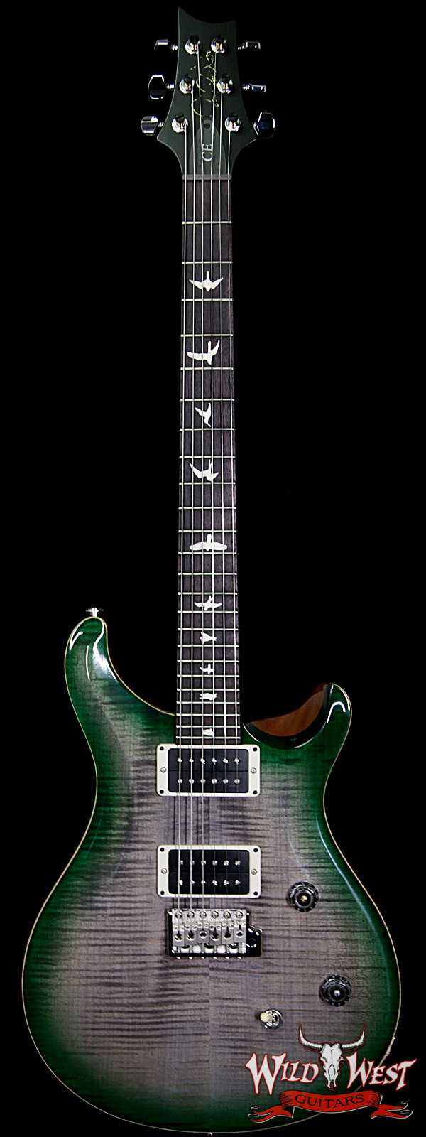 PRS WWG Special Run CE 24 Flame Maple Top 85/15 Pickups Faded Gray Black Green Burst 254075