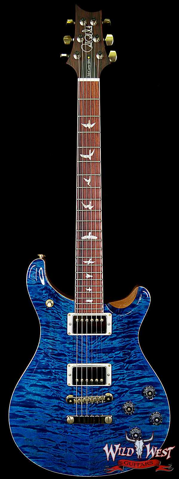 PRS Wood Library Quilt Maple 10 Top McCarty 594 Flame Mahogany Neck Cocobolo Board Aquamarine